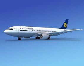 3D model Airbus A300 Lufthansa