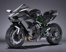 3D model Kawasaki Ninja H2R Supercharged 2016