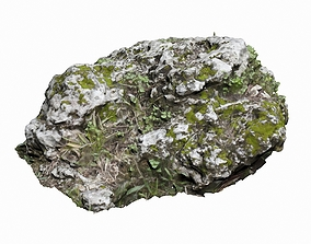 3D asset game-ready Mossy Rock