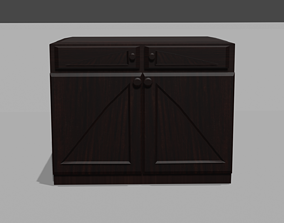 Bedside table 3D printable model
