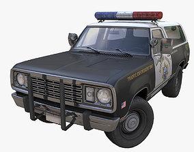 3D model Offroad police car
