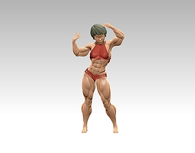Bodybuilder bikini girl in a beautiful pose 3D print