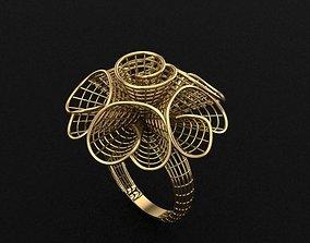 3D print model fusion gold ring