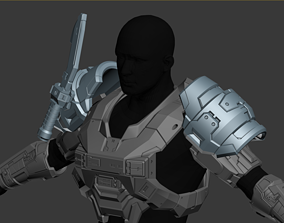 Reach Security Shoulder Wearable 3D Print Model