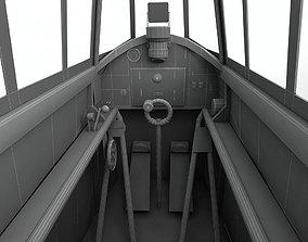 3D model Cockpit Hawker Hurricane WWII Aircraft