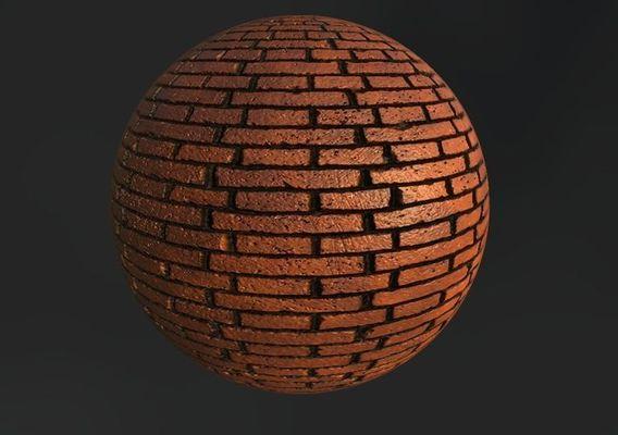 red bricks material (PBR)
