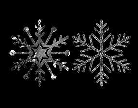 Snowflake frost 3D model