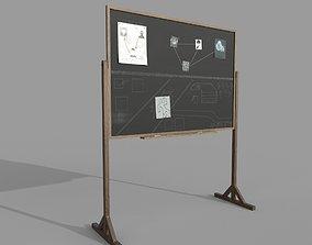 3D model Police Blackboard