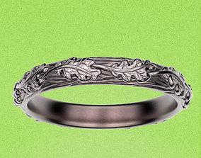 3D printable model Ring Oak Leaves