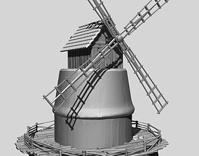 Medieval mill 3D print model