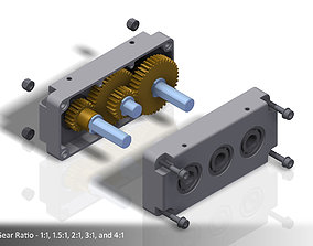 3D printable model Configurable Two-Stage Gearbox