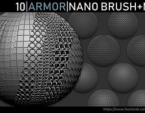 Zbrush - Armor Nano Brush and Meshes 3D model