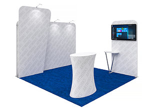 display Exhibition booth 10x10ft 3DM017