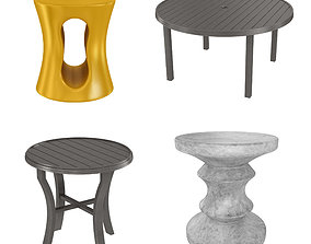 Four tables collection 3D