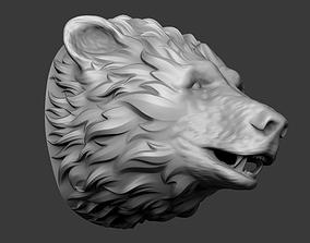 Bear head 3D printable model