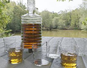 Whisky Decanter Bottle With Texture Nodes 3D asset