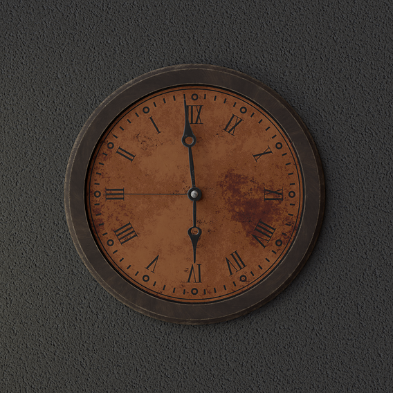 An Aging Wall Clock