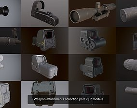 Weapon attachments collection part 2 3D model