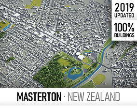 Masterton - city and surroundings 3D asset