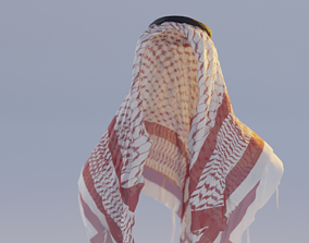 Kafia shemagh Collection - Highpoly and Lowpoly 3D model