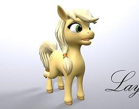 cartoon pony layla 3D model