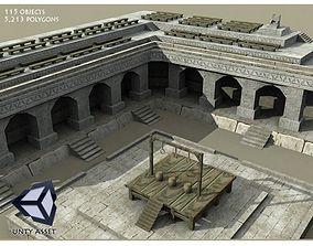 3D asset Medieval Punishment Execution Scene