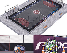 Street football Hq outdoor 3D model