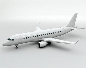 Embraer ERJ 175 - Generic White 3D asset