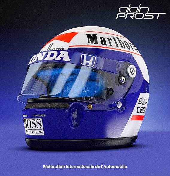 ALAIN PROST Helmet 89 McLaren Honda Racing Team