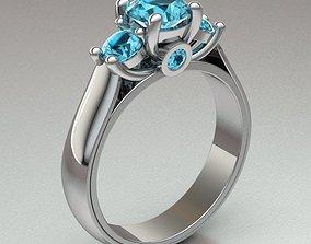 solitary ring women engagement 3D printable model