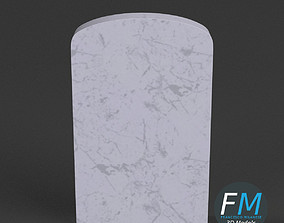 War memorial gravestone - blank 3D