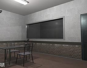 3D model Interrogation room - interior and props