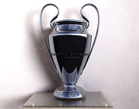 game-ready Champions League Trophy 3D model V-RAY Cinema 3