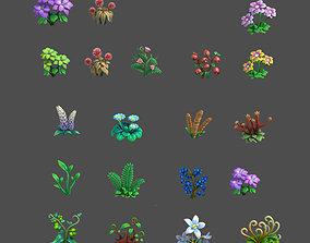 plant cartoon 3D flower