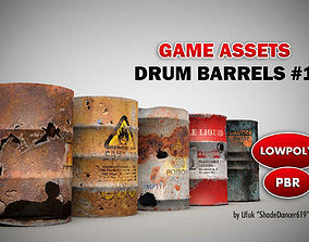 Game Ready Drum Barrels 3D asset