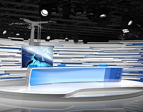 3D model Virtual Broadcast Studio 15