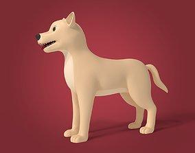 Cartoon Dog 3D asset low-poly breed