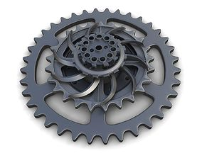 Steampunk Gears Set 01 3D model