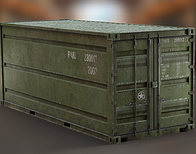 3D asset Industrial - Army Container PBR