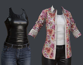 Female 1 - clothing 2 - Just clothing 3D model