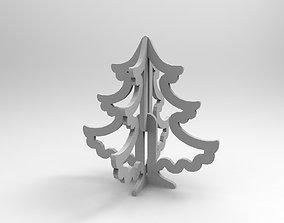 vegetation 3D print model Christmas tree