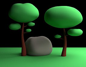 Tree Low-poly Simple 3D printable model