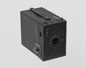 Vintage Box Camera photogrammetry scan PBR 4K 3D asset