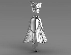 3D printable model bell Pendant Flower Kalibri