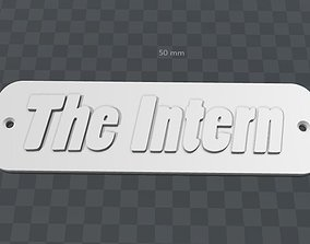 Plate- The Intern office 3D printable model