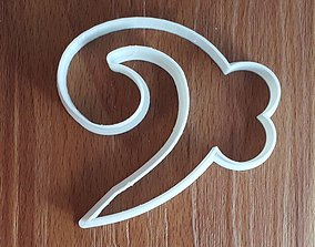 3D printable model F Clef Cookie Cutter