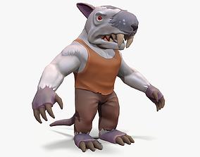 3D asset Rat-man