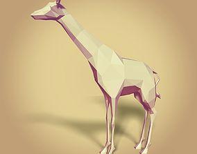 Low Poly Cartoon Giraffe 3D model