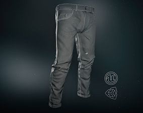 3D asset Gray Jeans Pants