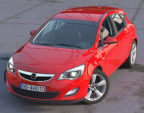 3D animated Astra Hatchback 2010